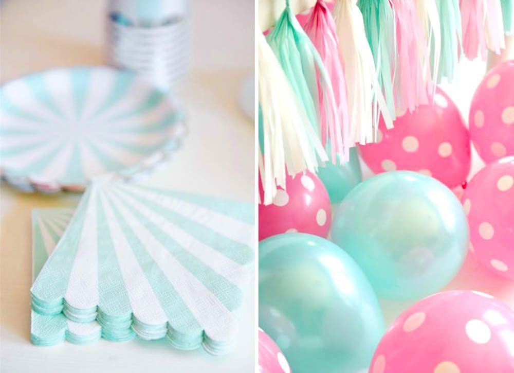 This super cute kitten birthday party by Happy Wish Company is a must pin, complete with a kitten cake, yarn ball cupcake toppers and garlands, and a stunning color palette of pink, mint and gold. Purrr-fect! #kitten #kittenbirthday #kittenpartyideas