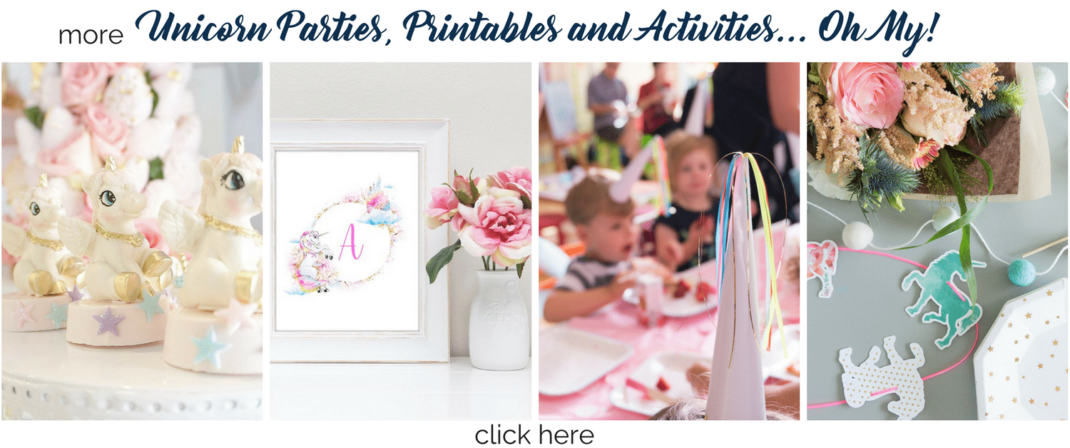 More Unicorn Parties, Printables and Activities from Tinselbox