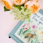 Some BUNNY loves You! Free Printable Watercolor Bunny