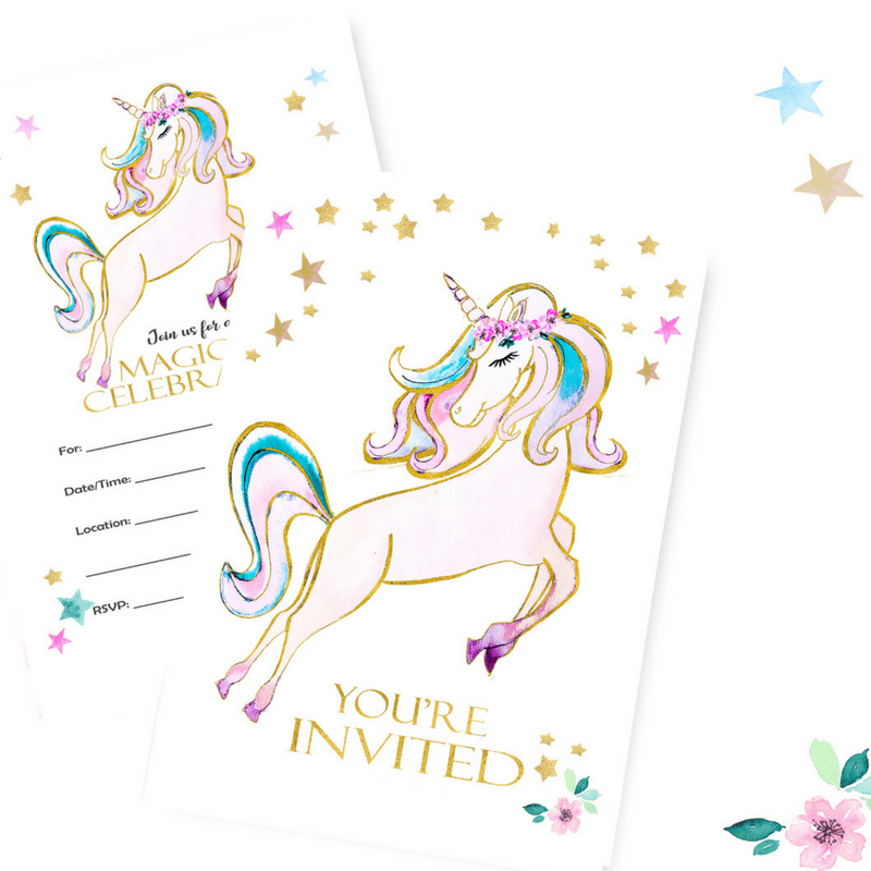 Tinselbox Unicorn Party Invitations