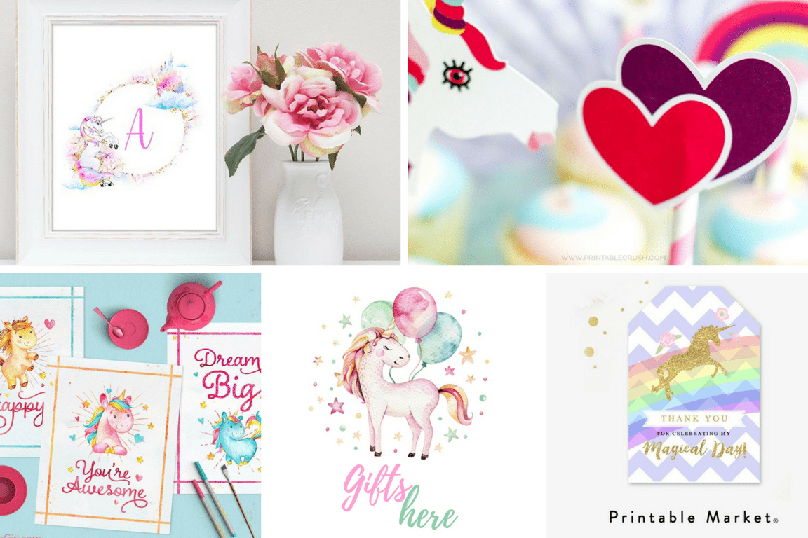 image about Free Unicorn Printable called Unicorn Occasion No cost Printables Least complicated of Pinterest - TINSELBOX