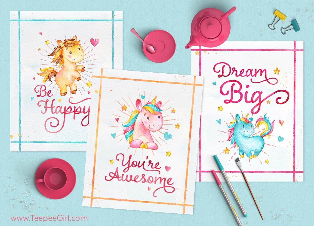 It is a graphic of Be a Unicorn in a Field of Horses Free Printable with handdrawn lettering