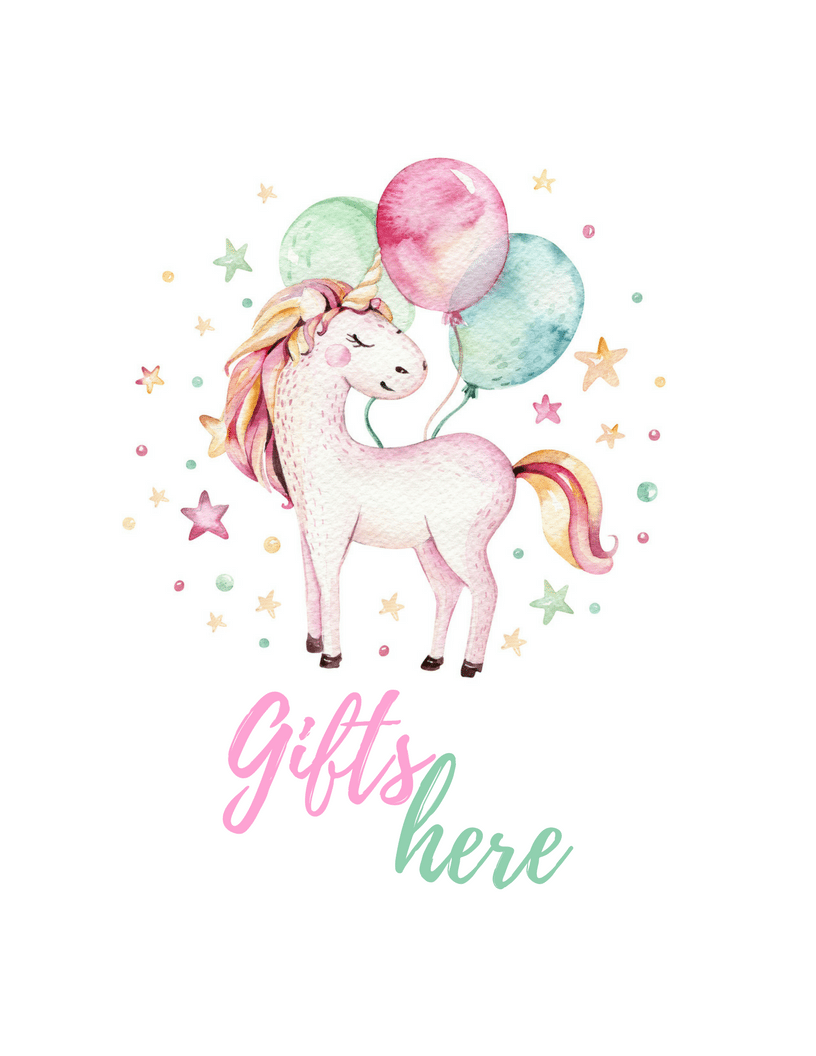 picture relating to Printable Pictures of Unicorns called Unicorn Bash Free of charge Printables - TINSELBOX