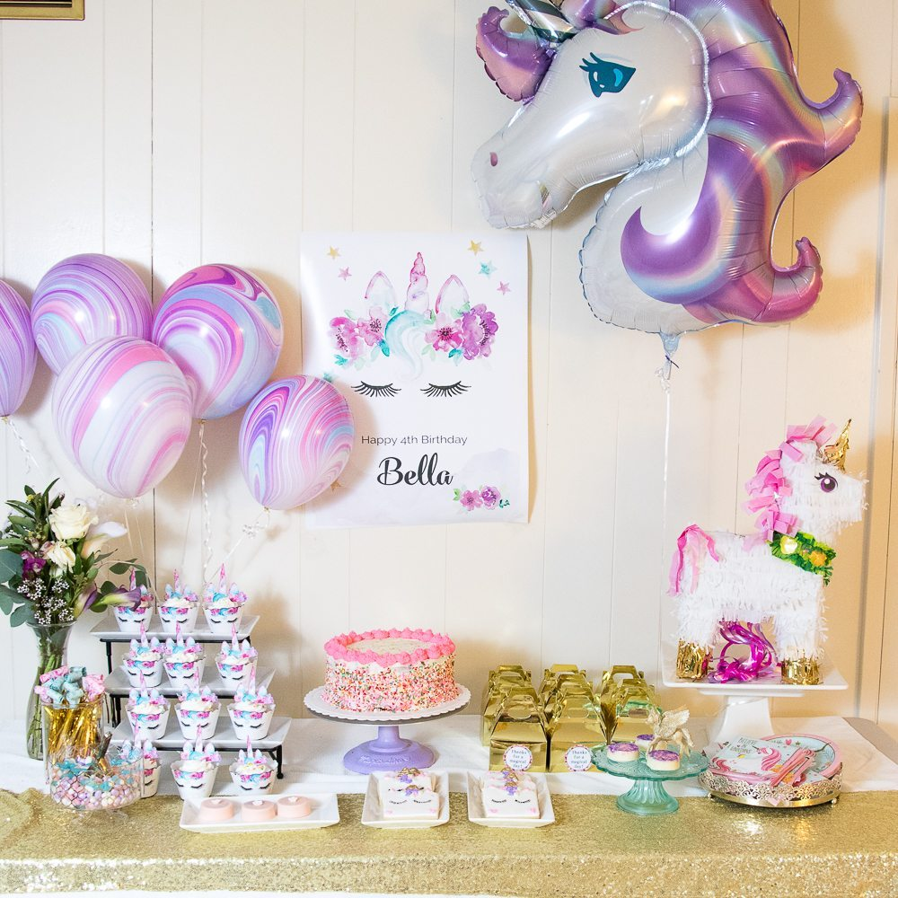 Sparkling Unicorn Party Supplies And Inspiration