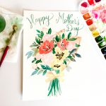 Happy Mother's Day Printable Card in Floral Watercolor