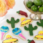 Fiesta Themed Decorated Sugar Cookies