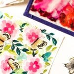 Butterfly Garden Free Printable Note Cards in Watercolors