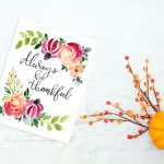 Sweet Free Thankful Watercolor Printable