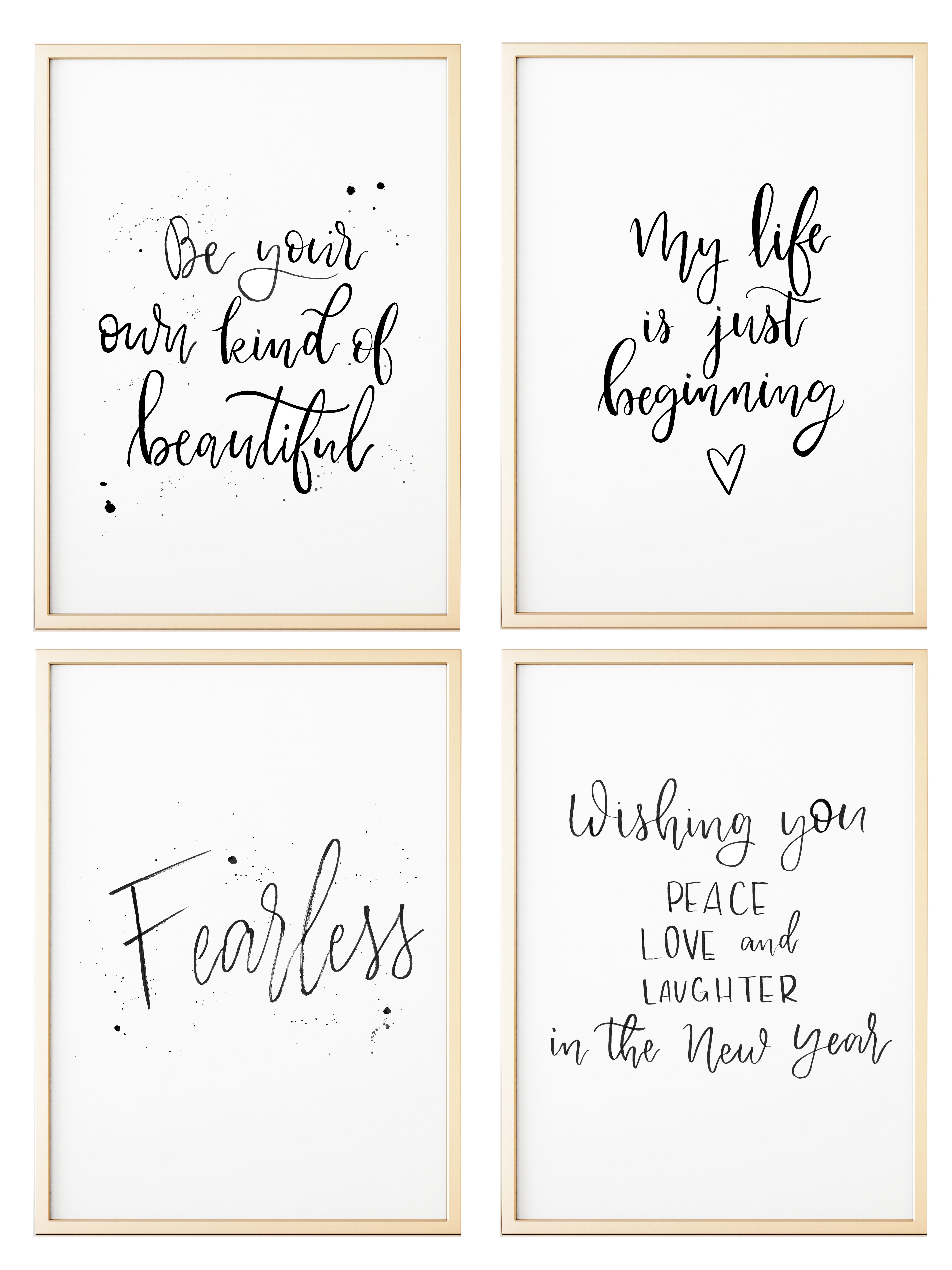 image about Printable Affirmations called Letterpress Confirmation Printables - TINSELBOX