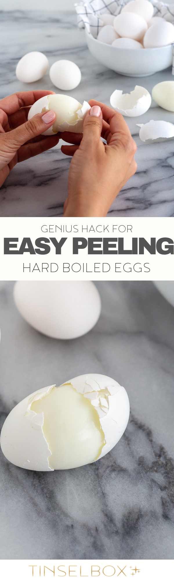 Genius Hack for Easy Peeling Hard Boiled