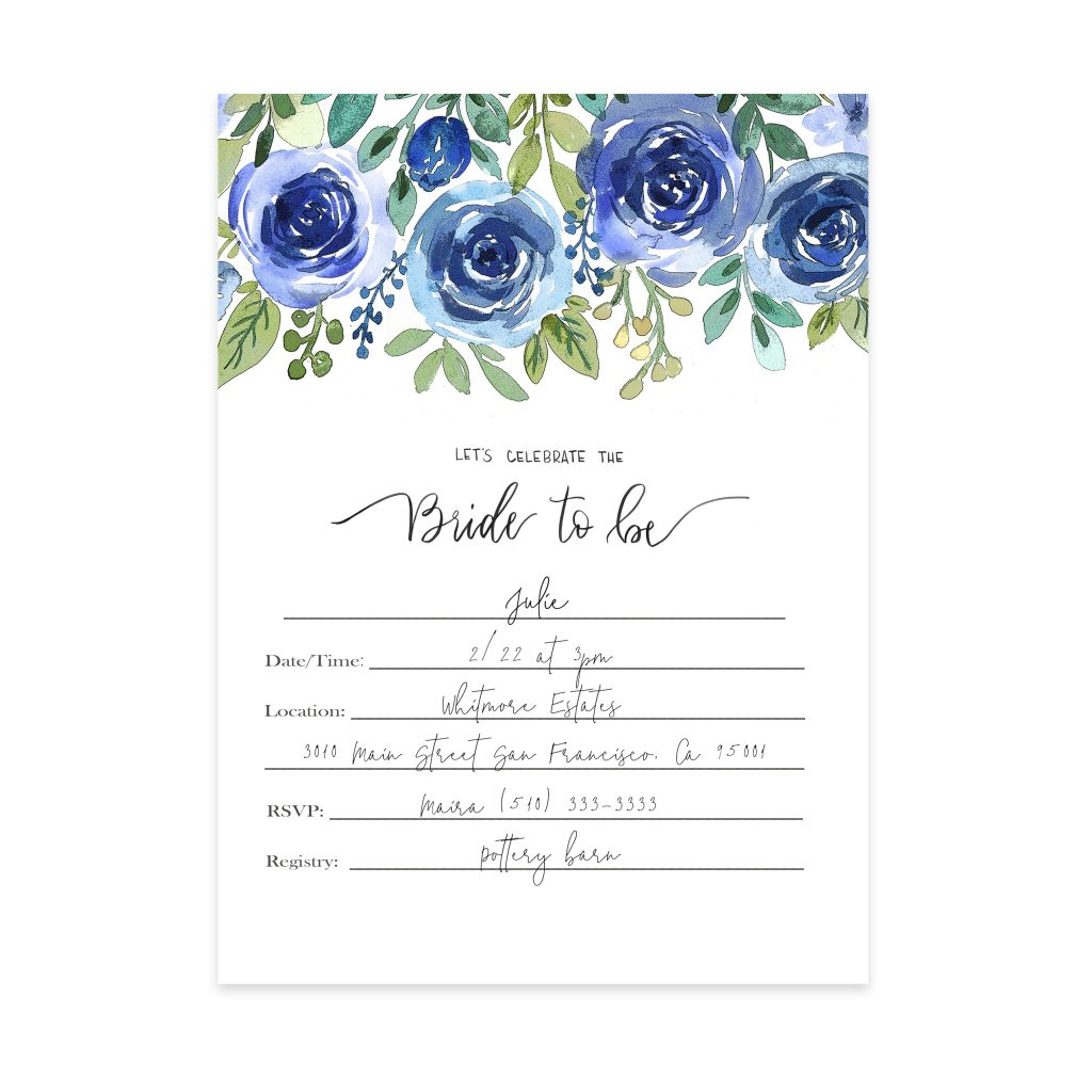 Watercolor Bridal Invitations