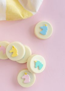 Unicorn Emoji Chocolate Covered Oreo Cookies