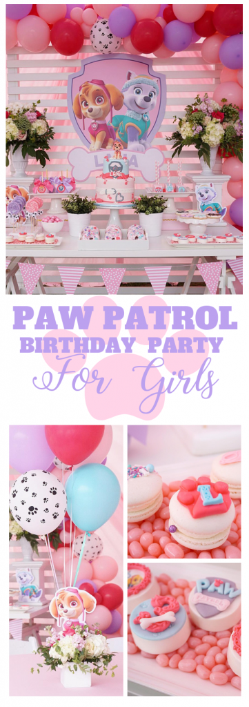 Wondrous Paw Patrol Birthday Party For Girls Tinselbox Download Free Architecture Designs Scobabritishbridgeorg