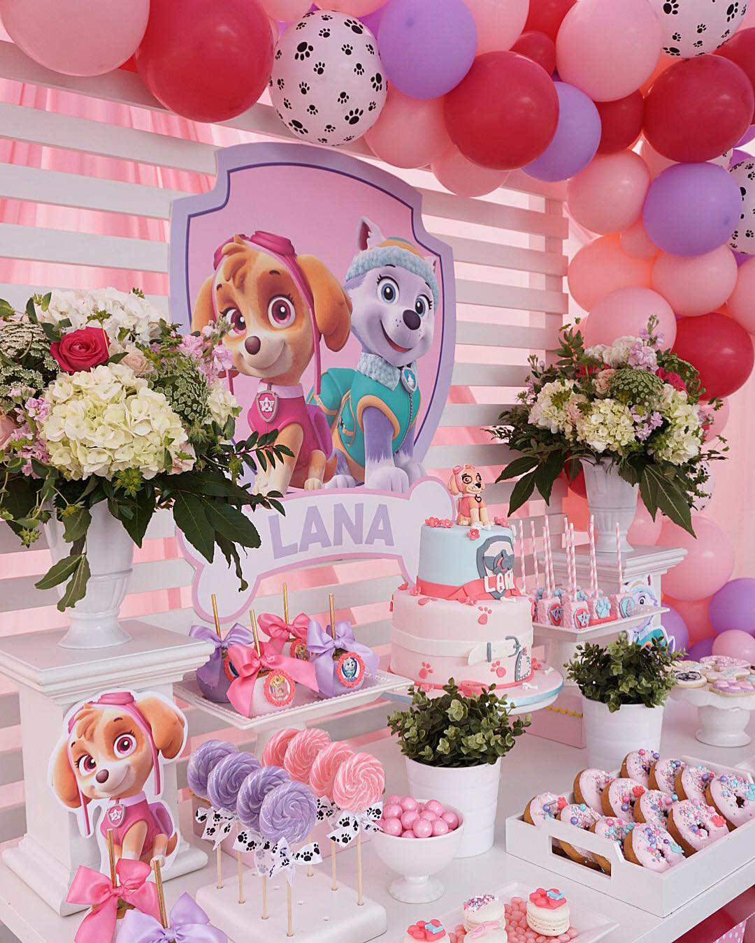 graphic about Paw Patrol Printable Decorations known as Paw Patrol Birthday Celebration for Women - TINSELBOX