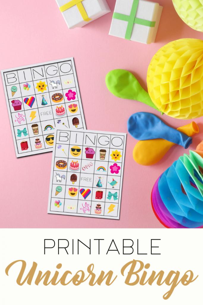 Unicorn Bingo Free Printable Pin