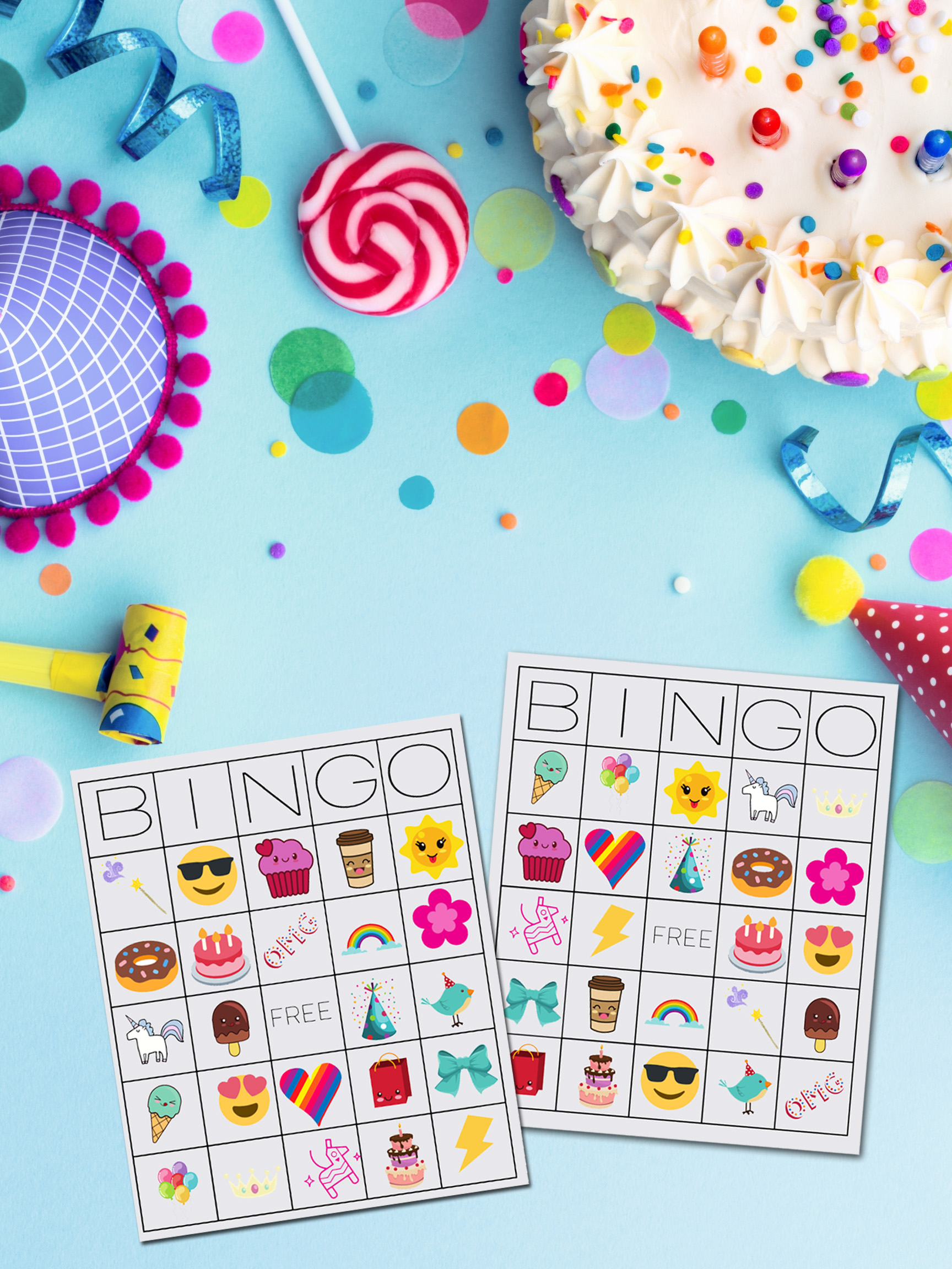 image about Free Printable Party Games identify Unicorn Bingo No cost Printable Obtain - TINSELBOX