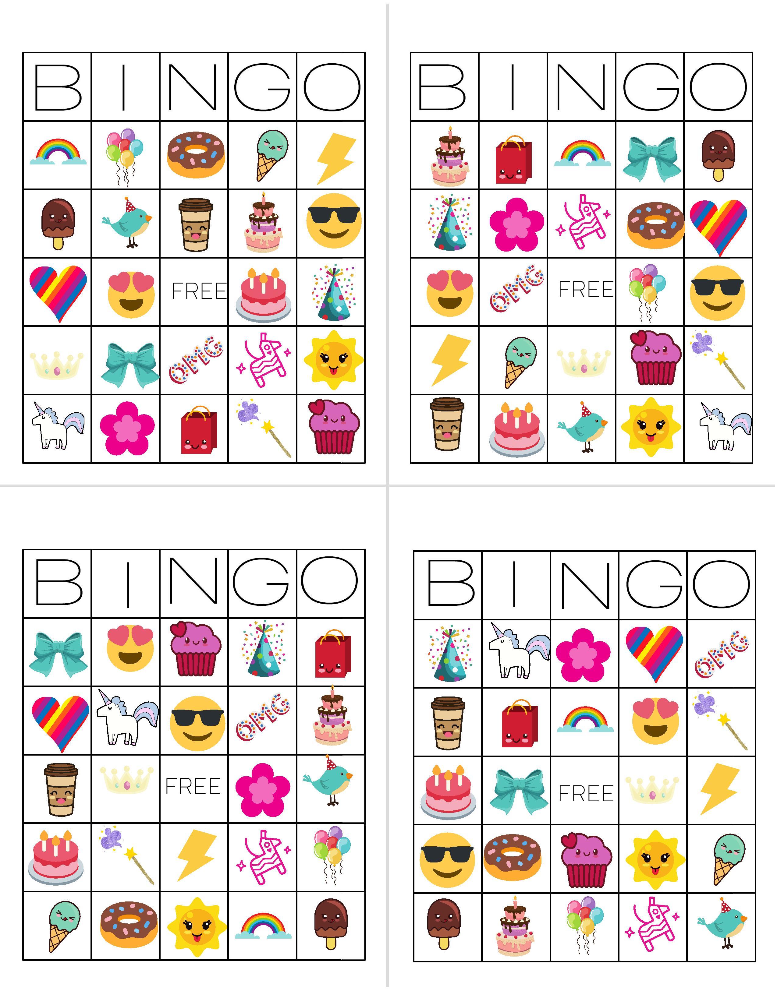 Unicorn Bingo Free Printable Download Tinselbox
