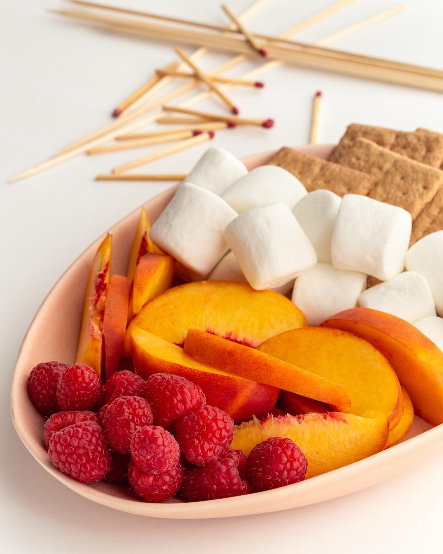 Fun S'mores Recipe Ideas: Peach Melba S'mores
