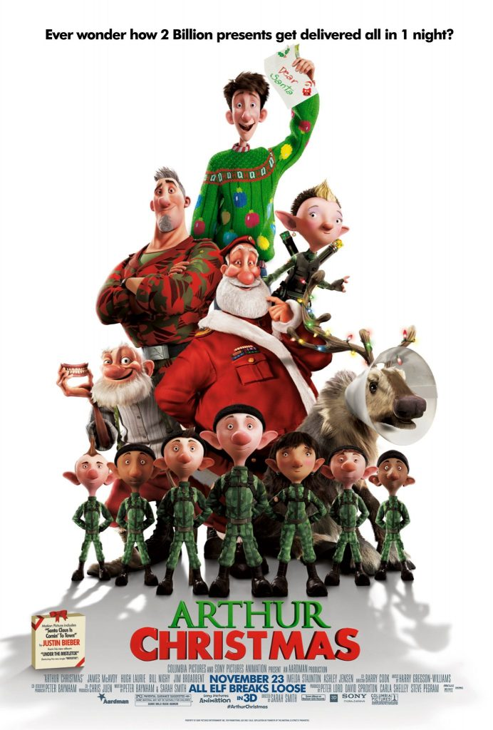 12 days of Christmas movies - Arthur Christmas