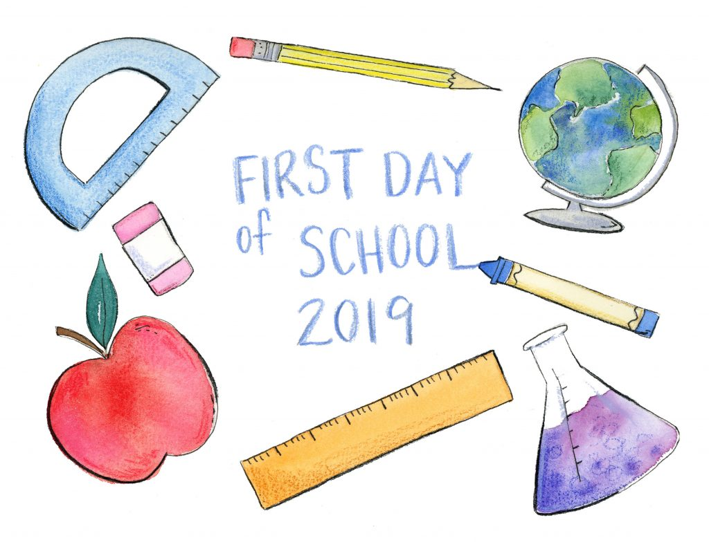 First Day of School Sign Free Printable