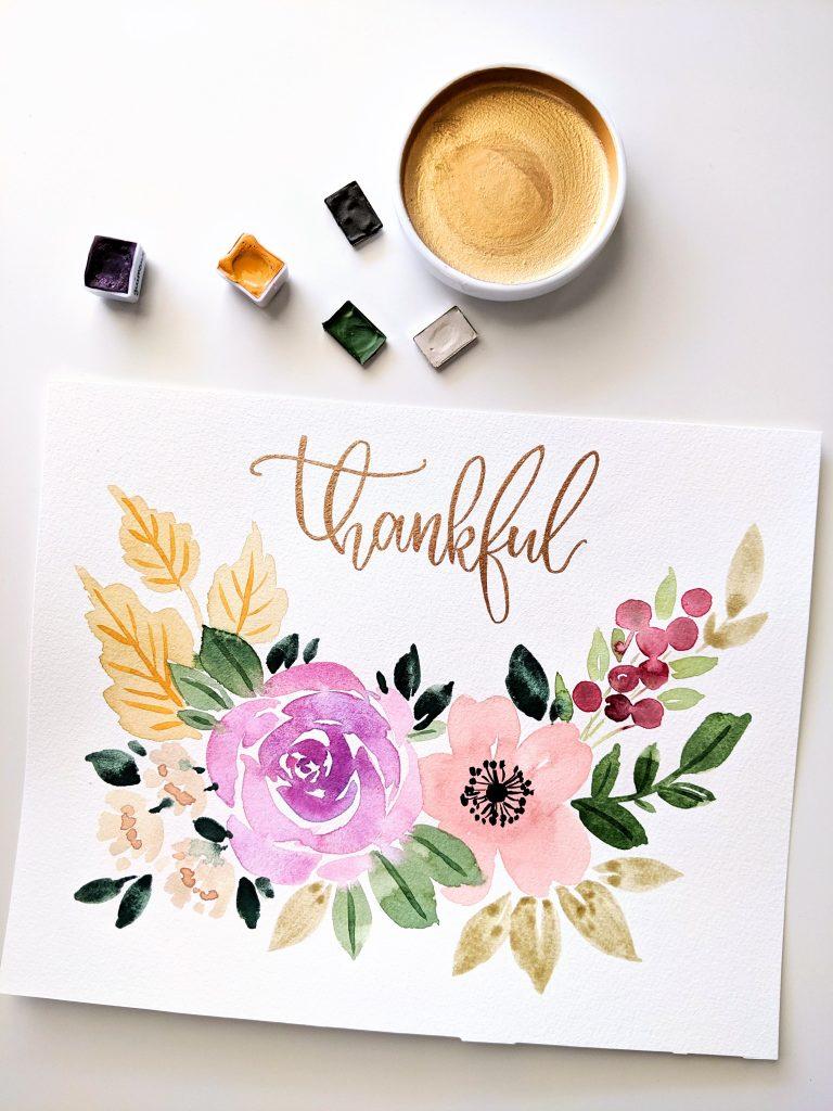 Thankful fall printable