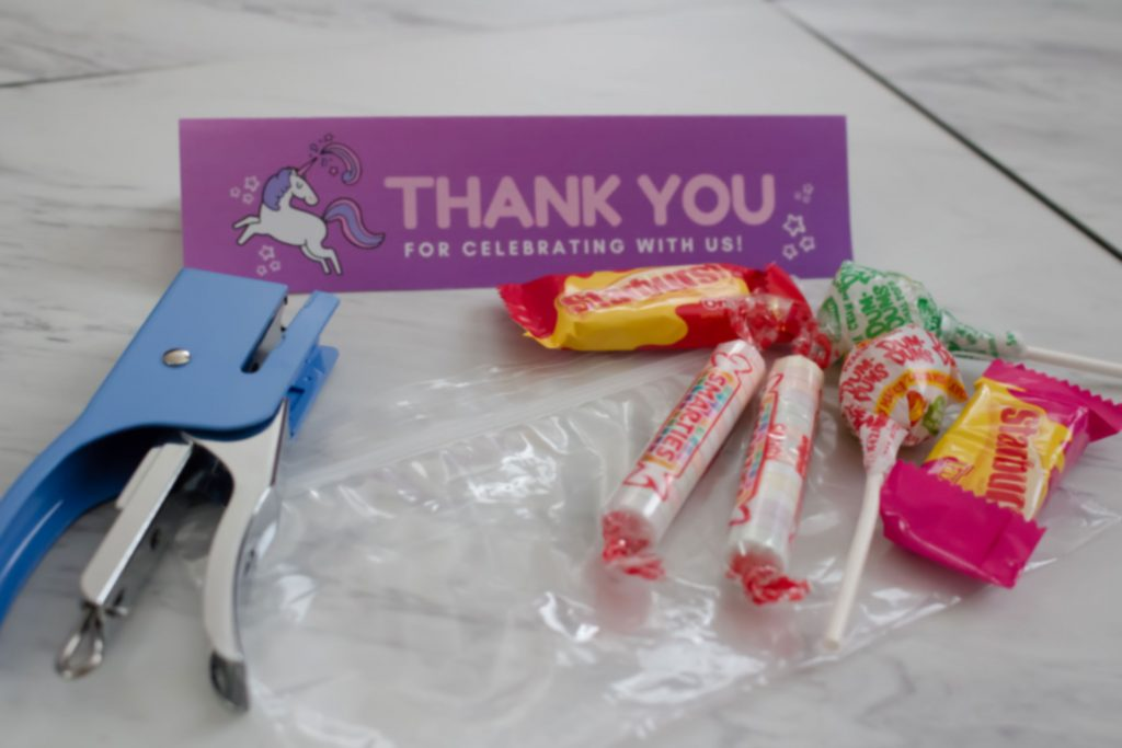 Unicorn Party Favor Bag Topper